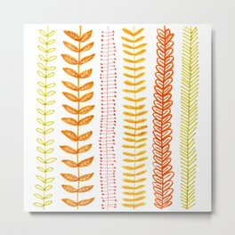 autumn colored vines Metal Print