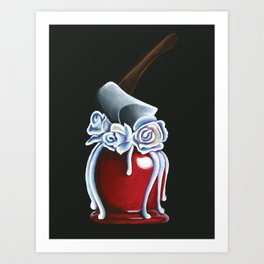 Disneyland Haunted Mansion inspired Haunted Bride Candied Apple  Art Print