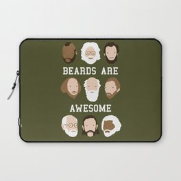 Beards Are Awesome Laptop Sleeve