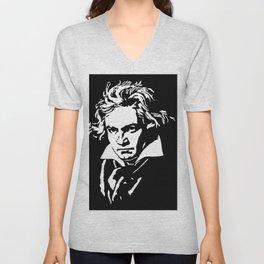 Ludwig van Beethoven (1770-1827) Unisex V-Neck