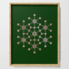 molecule of life. sacred geometry. alien crop circle Serving Tray