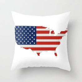 Flag of the United States Throw Pillow