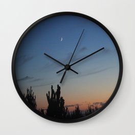 Moon over the Pacific Wall Clock
