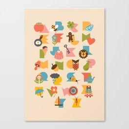 ABCs Ice Cream Canvas Print