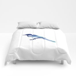 Magpie (Pica pica) - blue and turquoise Comforters