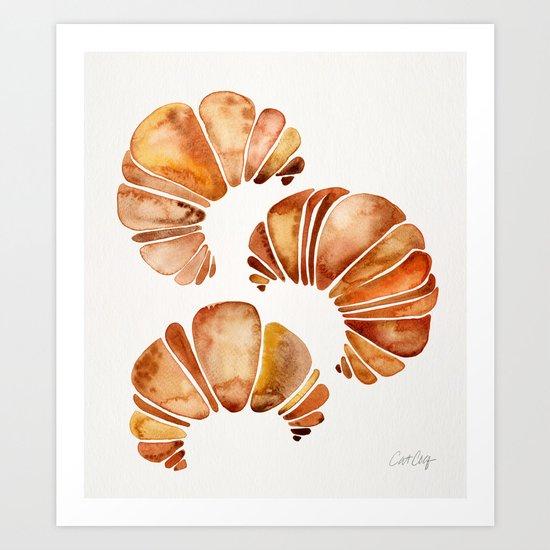 Croissant Collection Art Print