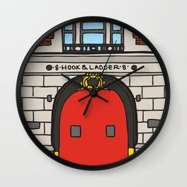 Ghostbusters Fire Station Wall Clock