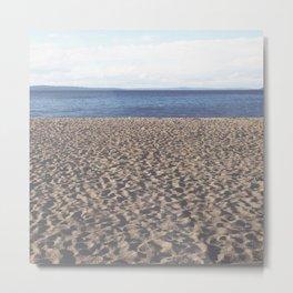 Alki Beach on Puget Sound Metal Print