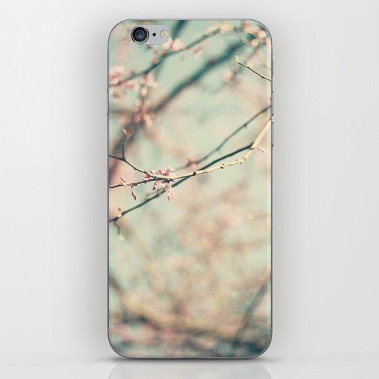 spring #2 (pink&bleu) iPhone & iPod Skin