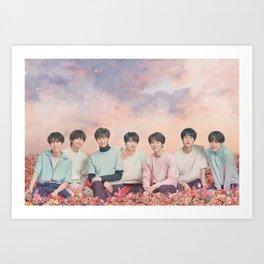 BTS Flower Tour - Bangtan Boys Art Print