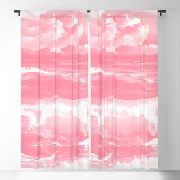 stormy sea waves reacpw Blackout Curtain