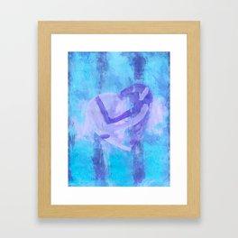 Heart Hug Framed Art Print