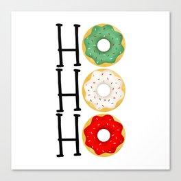 Ho Ho Ho - Holiday Donuts Canvas Print