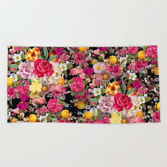 Fashion Botanic Pattern Beach Towel