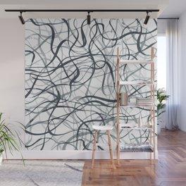 curvy gray & black Wall Mural