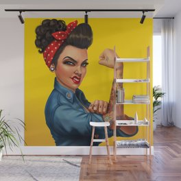 Rosie the Riveter Wall Mural