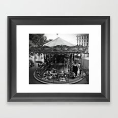 Carousel in Paris Framed Art Print