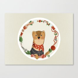 The Dressmaker Weasel Canvas Print