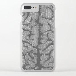 Brain vintage illustration Clear iPhone Case