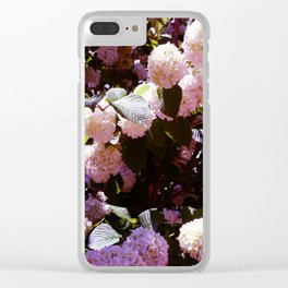 Purple Snowballs Clear iPhone Case