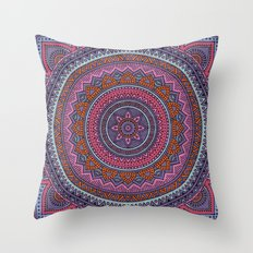 Hippie mandala 54 Throw Pillow