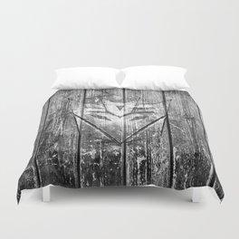 Decepticon Monochrome Wood Texture Duvet Cover