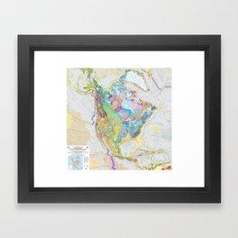 USGS Geological Map of North America Framed Art Print