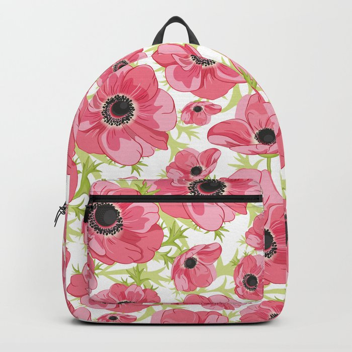 Pink Anemones Backpack