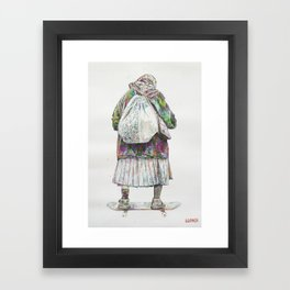 Looking forward Framed Art Print