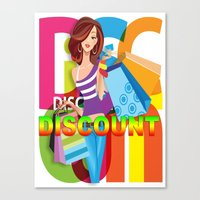 discount Canvas Prints featuring Creative Title : DISCOUNT by Don Kuing