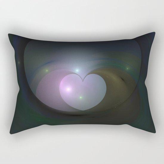 Please Rescue My Heart Fractal Rectangular Pillow