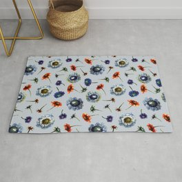 Scabiosa floral pattern 2 Rug