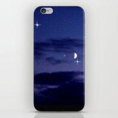 Mond am Südhorizomt. iPhone & iPod Skin