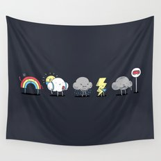 There's always rainbow after the rain Wall Tapestry