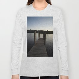 derwentwater jetty sunset Long Sleeve T-shirt