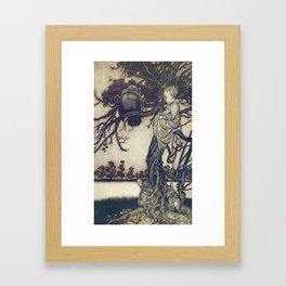Arthur Rackham (1907) - He put his strange case before Solomon Caw Framed Art Print