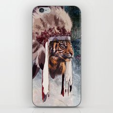 Tiger in war bonnet iPhone & iPod Skin