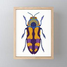 Purple and Blue Beetle Framed Mini Art Print