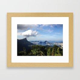 RIO DE JANEIRO THE CITY POSTCARD Framed Art Print