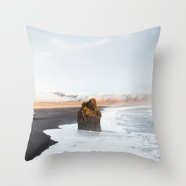 Black Sand Beach, South Iceland Throw Pillow