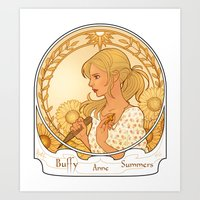 buffy Art Prints featuring Buffy Summers  by Morgane Grosdidier de Matons