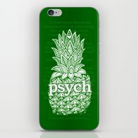 psych iPhone & iPod Skins featuring Psych Pineapple! by Alohalani