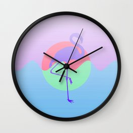 A Flamingo on the Horizon 2 - Recolor Wall Clock