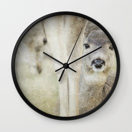 Keeping a Low Profile Wall Clock