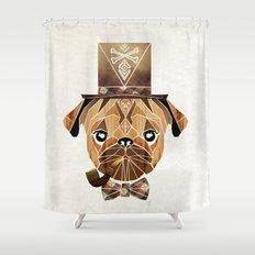 mister pug Shower Curtain