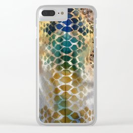 Snake Print Patten Clear iPhone Case