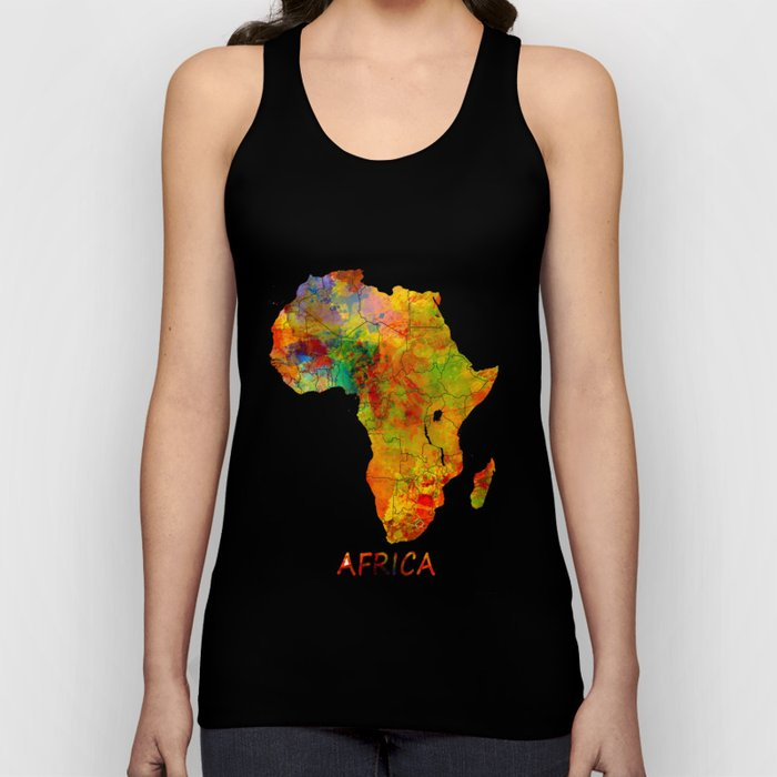 Africa map colored Unisex Tank Top