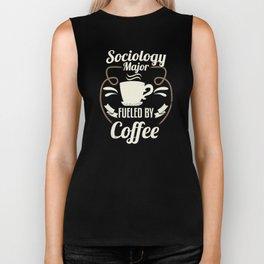 Sociology Major Fueled By Coffee Biker Tank