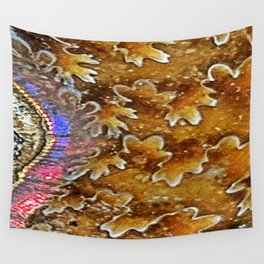 Opalized Sutured Ammonite Wall Tapestry