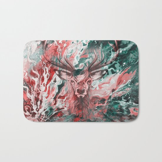 Deer's Scream Bath Mat